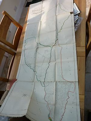 1891 Huge Original 68 X 28 Inch Map Ystradgynlais Estate Breconshire 25 Mile -""