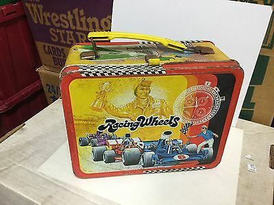 Racing Wheels rare metal lunch box 1970s