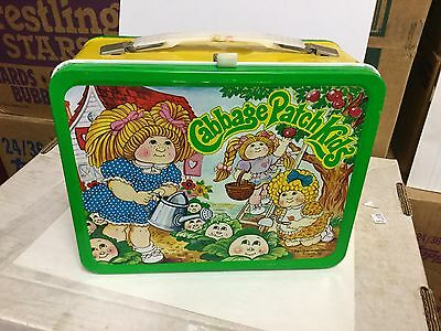 Garbage Patch Kids rare metal lunch box with thermos 1983