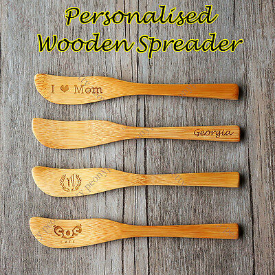 Personalised wooden Jam Butter Knife Cheese Spreader Wood Spatula Scraper