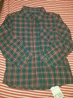 bnwt baby boys checked shirt 18-24 months mothercare