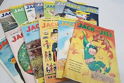 Vintage Magazines Jack and Jill 1950s 1960s Childrens Books