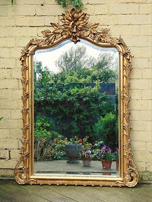 Beautiful French Gilt and Gesso Overmantle Mirror c.1860