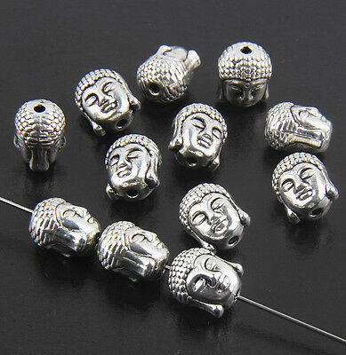 10/50Pcs Solid Metal Buddha Chamrs Spacer Loose Bead For Bracelet 11mm