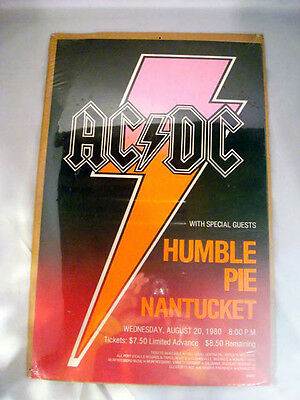 Vintage AC/DC with Humble Pie & Nantucket - Mint Poster Sealed!!