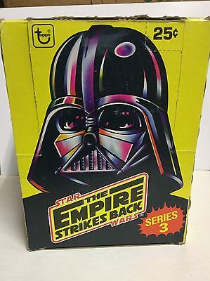 Star Wars Empire Strikes Back series 3 cards box 1981