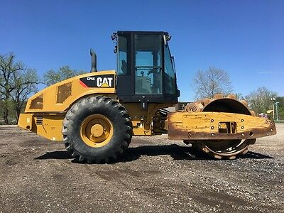 "2008 Caterpillar CP56 Vibratory Padfoot Roller Diesel Cab AC 84"" Drum Compactor"