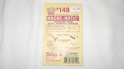 Kadee #149 HO Scale Magne-Matic Whisker Couplers 2-pair W/Draftgear  Boxes  New