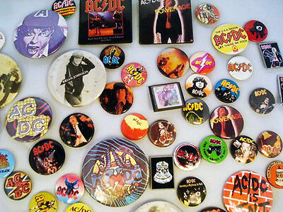 49 AC/DC Collector Buttons **FROM UK - CARNABY STREET DURING THE EARLY 1980'S.