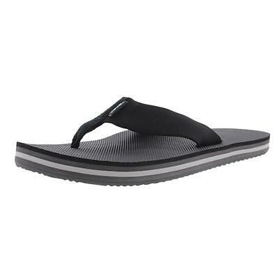 Teva 3900 Mens Deckers Black Slide Thong Flip-Flops Shoes 8 Medium (D) BHFO