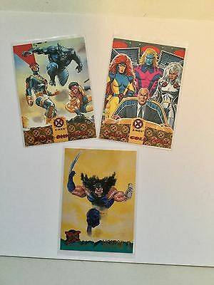 X-men cards 3 rare Walmart limited issued set!