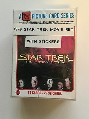 Star Trek first movie cards and stickers set 1979