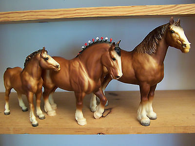 Breyer Vintage Family Clydesdale Horse Lot Drafters
