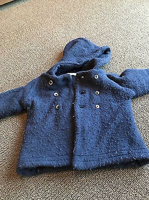 Country Road navy wool coat boys - size 18-24 months