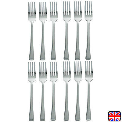 12 x Table Fork, Cutlery, Dozen Table Forks, Stainless Steel Pack of 12 New