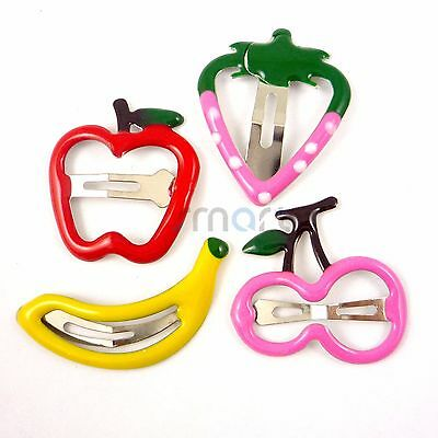 4pcs Mixed Fruit Designs Hair Clip Snaps Accessories for Girls Kids Baby 1 Set