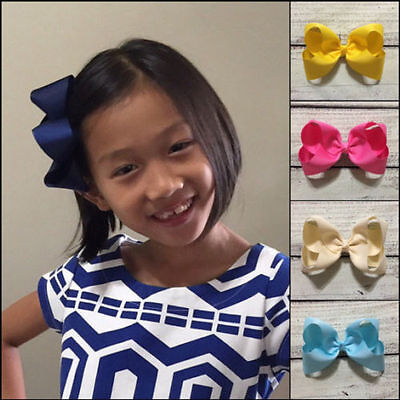 "5 pcs 5"" Baby/Toddler/Girl Boutique Hair Bows"