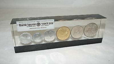 Israel Bank Leumi Coin Proof Set 7 Coins Free Shipping!!!