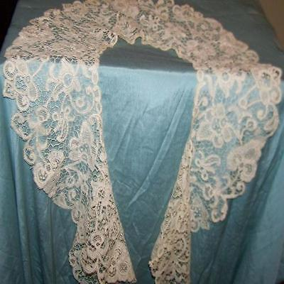"Large  Lace Collar Or Flounce 7"" wide And 39"" long"