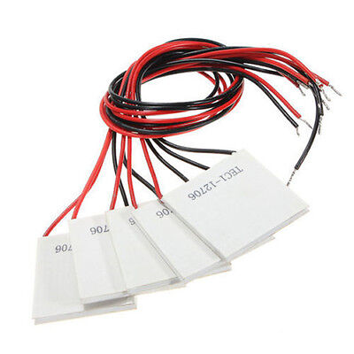 5 PCS TEC1-12706 12V 5.8A Thermoelectric Cooler Heat Sink Cooling Peltier Module