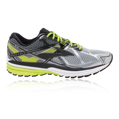 Brooks Ravenna 7 Mens Green Silver Support Running Shoes Trainers 2E Width