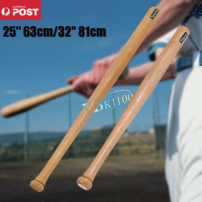 "25""32"" Outdoor Wood Baseball Bat Wooden Softball Bat Length 63cm 81cm Sport"