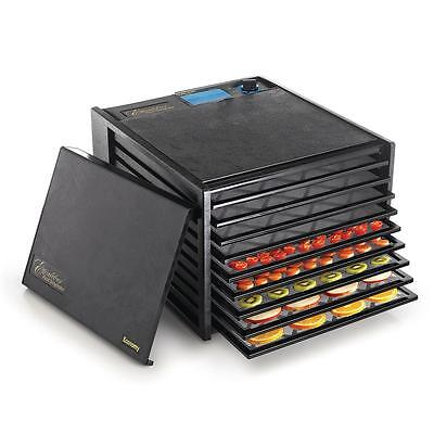 9-Tray Adjustable Thermostat On Indicator Light Accurate Food Dehydrator Black