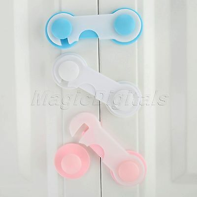 5PCS Baby Cabinet Locks Straps Child Safety Lock Drawer Protection 9.5x3.5cm