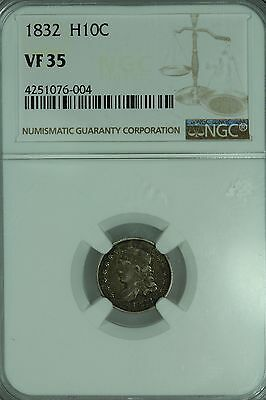 1832 Bust Half Dime! Ngc Vf35! H10C! Us Coin Lot #3448