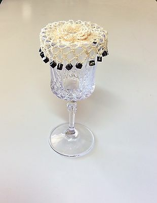 Crochet Beaded Wine Glass Cover