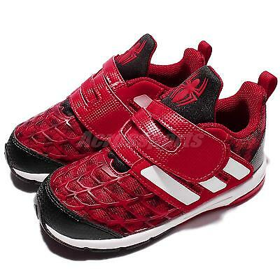 online store e9b1c 8ba43 adidas Marvel Spider-Man CF I Red Infant Baby Toddler Running Shoes BA9406