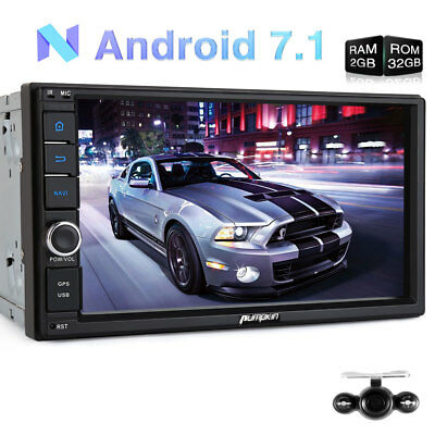"UK 7"" Android 6.0 Double 2 DIN Sat Nav Car GPS Stereo DAB+ Radio WiFi 3G OBD2 BT"