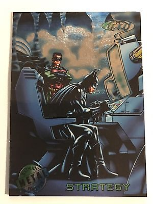 1995 DC Comics Batman Forever Metal Trading Card #84 Strategy