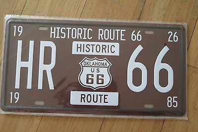 Hr Route 66  Novelty  Number Plate 30 Cm By 15 Cm