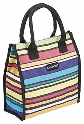 """Kitchencraft """"We love Summer pastel-striped Tote Cool bag, 4L (7PTS), multi/co"""