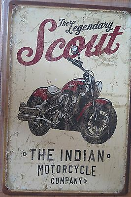 indian motorcycle  scout metal sign MAN CAVE brand new or for the  bar