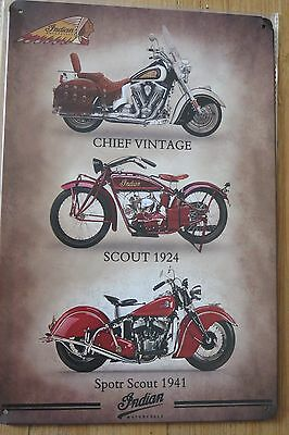 indian motorcycle  .metal sign MAN CAVE brand new or for the  bar
