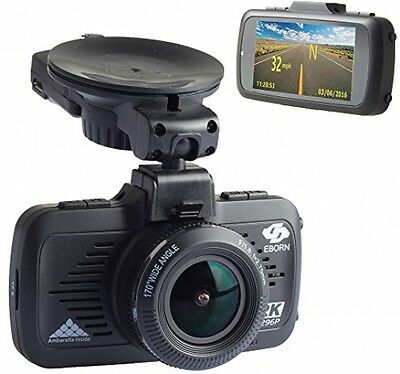 EBORN Dash Cam with Built in GPS ,170° Super Wide View,1080P 1296P HD,Car DVR
