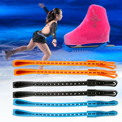 1 Pair Adjustable Ice Hockey Skate Blade Guards Covers Walking Protection AF