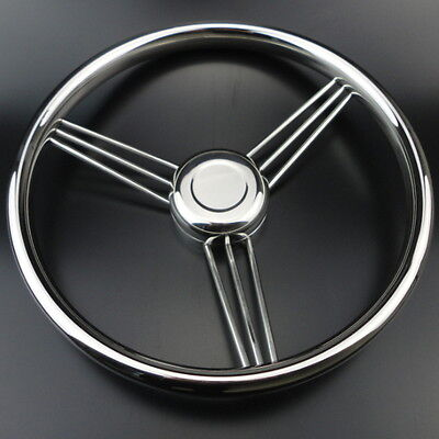 13-1/2''  AU Stock 9 Spoke Stainless Steel Marine Boat Steering Wheel 15° Spiffy