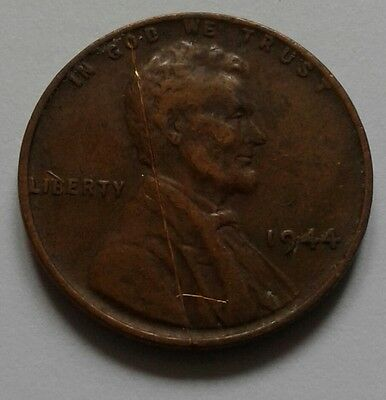 Solid Copper Usa One Cent 1944