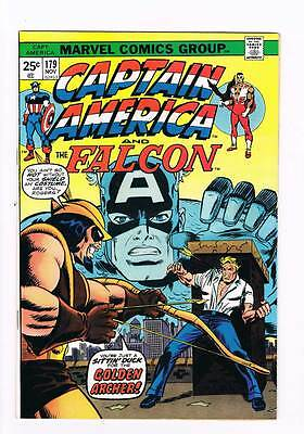 Captain America # 179  Golden Archer grade 8.0 scarce book !!