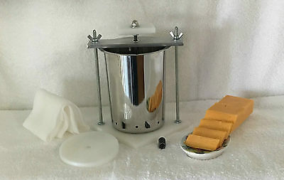 Cheese Press -Stainless Steel - Spring Assisted- New- Free Shipping