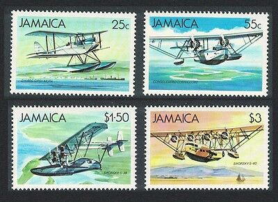 Jamaica Seaplanes and Flying Boats 4v SG#596/99