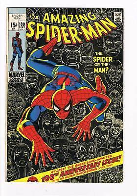 Amazing Spider-Man # 100  The Spider or the Man ? grade 7.0 scarce book !