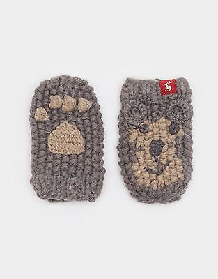 Joules Chum Baby Boys Character Gloves in Hand Knitted Acrylic in Monkey