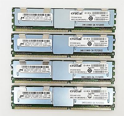 16GB (4x4GB) PC2-5300F DDR2 667MHz ECC FB-DIMM Fully Buffered Server RAM