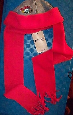 Bimbus Brand Reversible Girls Winter Hat w/Attached Scarf - NWT - Free Shipping