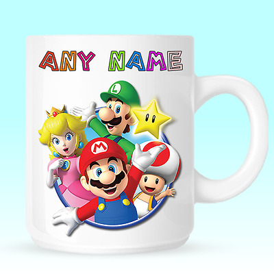 Super Mario Bros Personalised Coffee Mug Cup Birthday Christmas Novelty Gift -D6