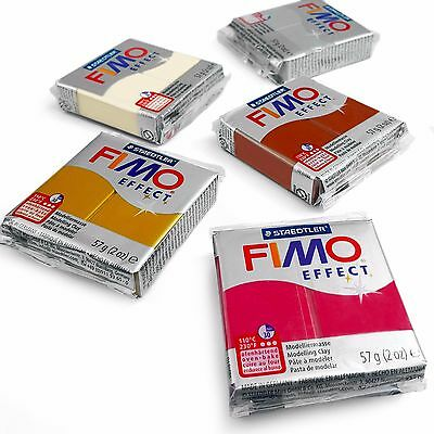 FIMO Effect Polymer Oven Modelling Clay - 57g - Set of 5 - Metallic Finish